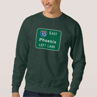 フェニックスのAZの交通標識 スウェットシャツ
