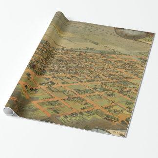 フェニックスアリゾナ(1885年)のヴィンテージの絵解き地図 ラッピングペーパー