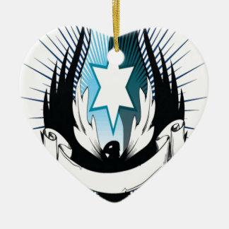 フェニックス主の紋章学のデザイン 陶器製ハート型オーナメント