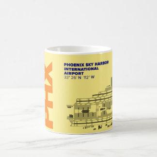 フェニックス空港(PHX)図表のマグ コーヒーマグカップ