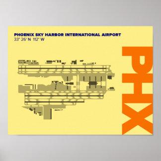 フェニックス空港(PHX)空港図表ポスター ポスター