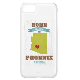 フェニックス、アリゾナの地図-ハートがあるところでがあります家 iPhone5Cケース