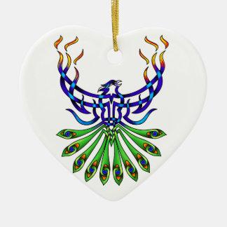 フェニックスPacis 陶器製ハート型オーナメント