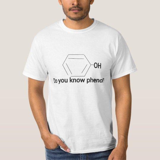フェノール構造式Tシャツ Tシャツ