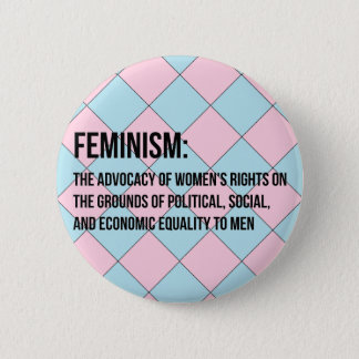 フェミニズムの定義 5.7CM 丸型バッジ
