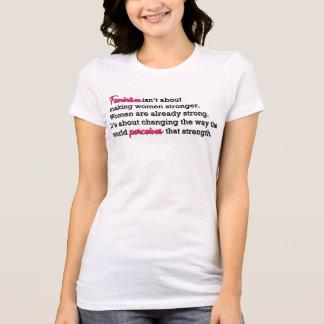 フェミニズムの強さ Tシャツ