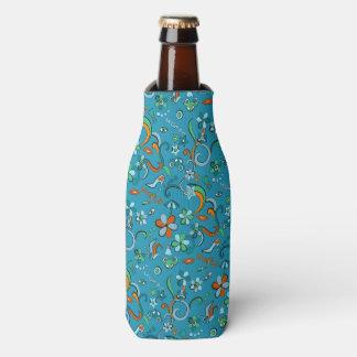 フェミニンでスタイリッシュなファッションのポップアートのスタイルパターン ボトルクーラー