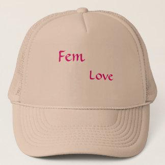 フェミニンなファッションを与えるFem愛 キャップ