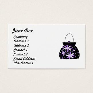 フェミニンな紫色の名刺 名刺