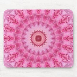 フェミニンな花のピンクの万華鏡のように千変万化するパターン マウスパッド