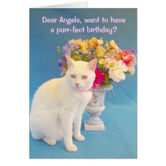 フェミニンな誕生日 カード