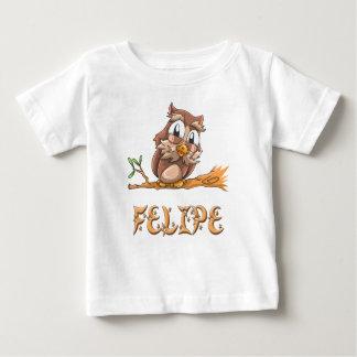 フェリペのフクロウのベビーのTシャツ ベビーTシャツ