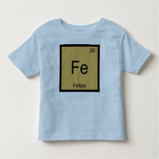 フェリペ一流化学要素の周期表 トドラーTシャツ