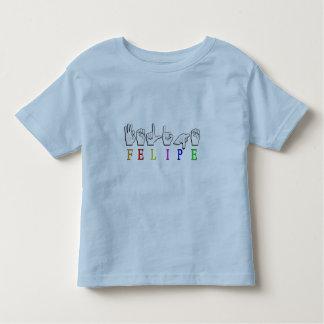 フェリペASL FINGERSPELLEDの一流の印 トドラーTシャツ