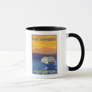 フェリーおよび山-港Townsend、ワシントン州 マグカップ