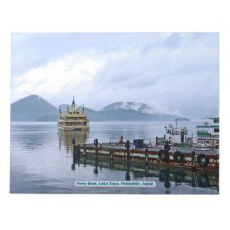フェリーボート、湖Toyaの北海道、日本 ノートパッド