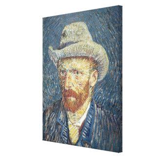 フェルトの帽子とのフィンセント・ファン・ゴッホ の自画像 キャンバスプリント