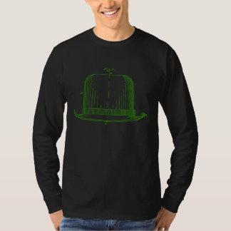 フェルトの帽子のパテントのイラストレーションの[緑の] Tシャツ