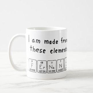 フェルナンドの周期表の名前のマグ コーヒーマグカップ