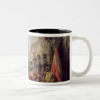 フェルナンドAlvarez deトレドの公爵、到着の ツートーンマグカップ