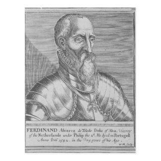 、フェルナンドAlvarez deトレドアルバの第3公爵 ポストカード