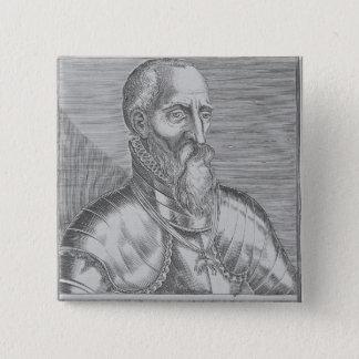 、フェルナンドAlvarez deトレドアルバの第3公爵 5.1cm 正方形バッジ