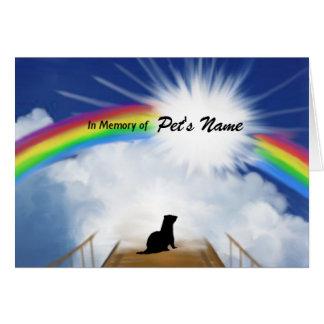フェレットのための虹橋記念の詩 カード