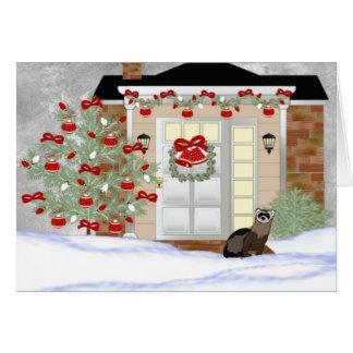 フェレットのクリスマス カード