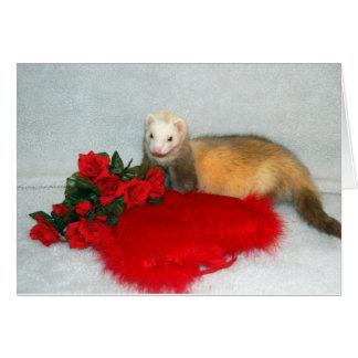 フェレットのバレンタインのカード カード