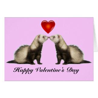 フェレットのバレンタインカード カード