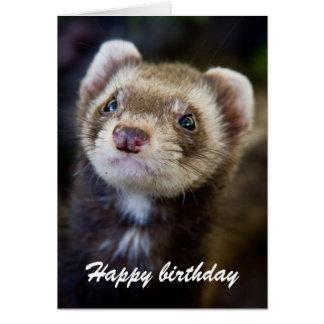 フェレットの誕生日 カード