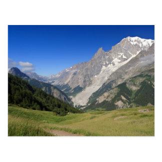 フェレットの谷、イタリアからのモンブラン ポストカード