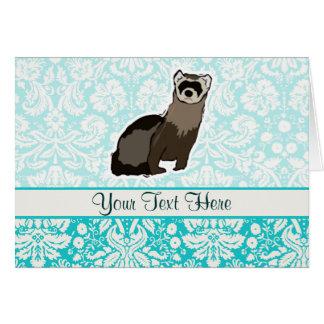 フェレット; かわいい カード
