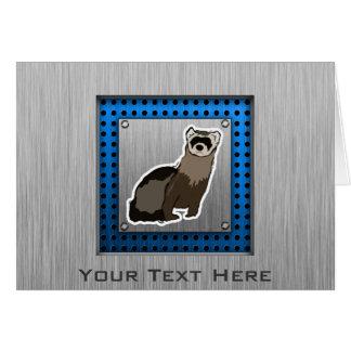 フェレット; ブラシをかけられた金属の一見 カード