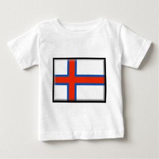 フェロー諸島(デンマーク)の旗 ベビーTシャツ