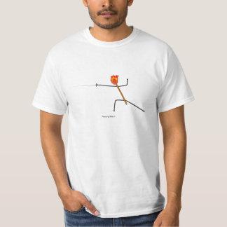 フェンシングのマッチ- Tシャツ