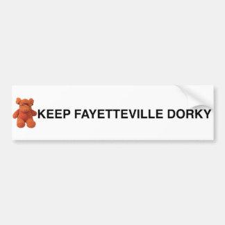 フェーエットビルのDorkyバンパーステッカーを保って下さい バンパーステッカー