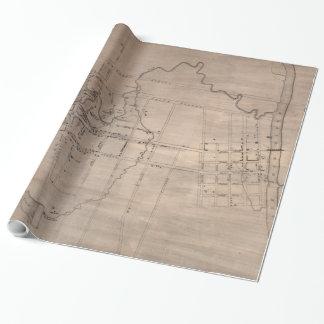 フェーエットビルノースカロライナ(1822年)のヴィンテージの地図 ラッピングペーパー