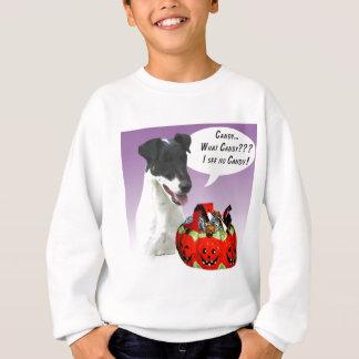 フォックステリア犬のハロウィン滑らかなキャンデー スウェットシャツ