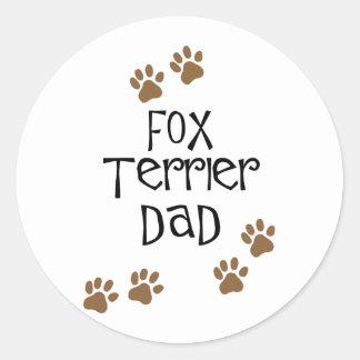フォックステリア犬のパパ ラウンドシール