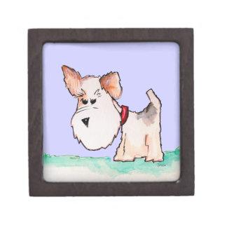 フォックステリア犬の水彩画 ギフトボックス