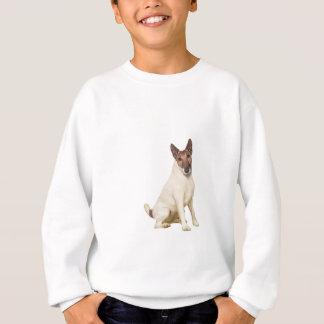 フォックステリア犬-滑らかにして下さい- borwnおよび白 スウェットシャツ