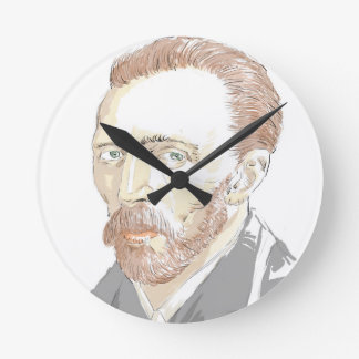 フォンゴッホ ラウンド壁時計
