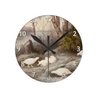 フォンライトの芸術の柱時計 ラウンド壁時計