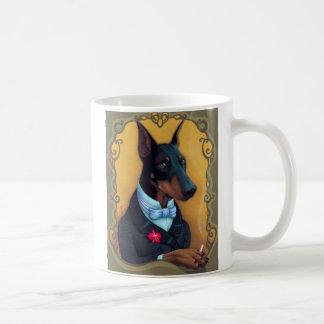 フォンHundeknochen -ドーベルマン犬男爵 コーヒーマグカップ
