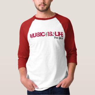 フォンPunkの男性3/4本の長さの袖 Tシャツ