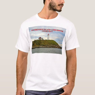 フォークナーの島の灯台、コネチカットのTシャツ Tシャツ