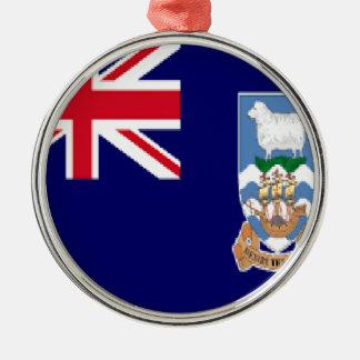 フォークランド島 シルバーカラー丸型オーナメント