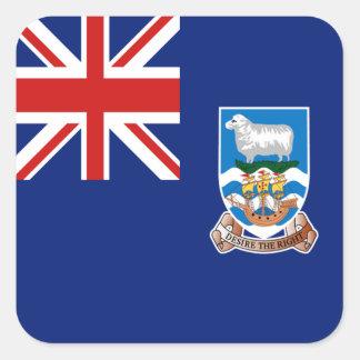 フォークランド諸国の旗のステッカー スクエアシール