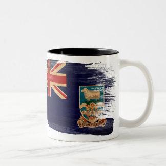 フォークランド諸国の旗のマグ ツートーンマグカップ